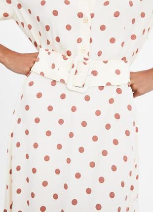 H&m платье zara на пуговицах платье рубашка в горошек zara