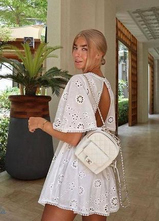 🌊🌊 платье кружевное коттон белое
