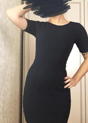 Платье must have цвета индиго