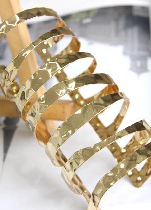 Мега широкий стильный браслет в греческом или минималистичном стиле бижутерия купить недорого