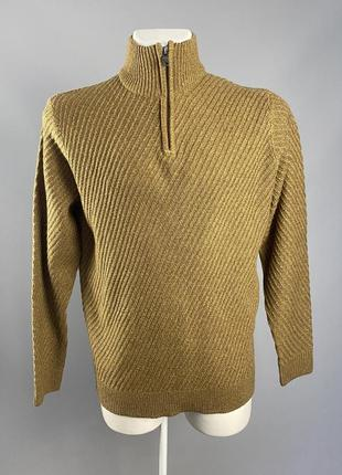 Свитер теплый knitwear f&f, коричневый, акрил