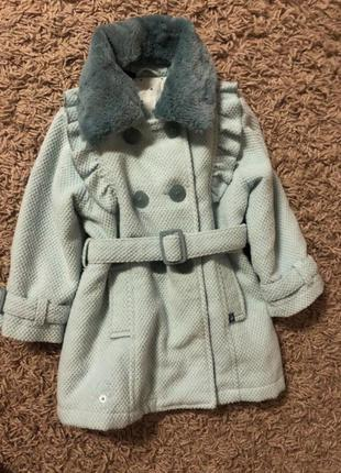 Тепле пальто wójcik 1.5-3 роки🔥🔥