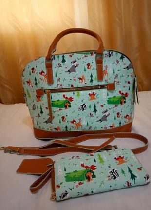 Оригинальный набор сумка и кошелек