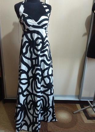 Платье-сарафан h&m, в пол, макси жлины, xs