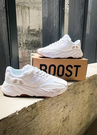 """Adidas yeezy 700 """"white"""" 🍏 стильные женские кроссовки адидас изи 700"""