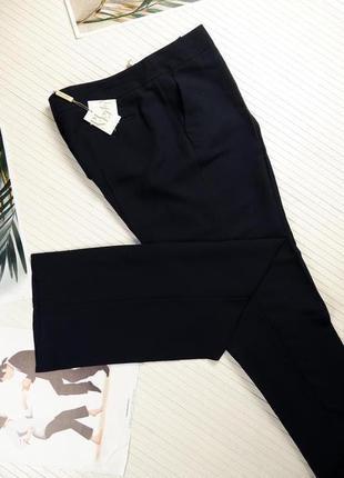 Брюки синие классика англия люкс прямые классические xl uk18 штаны женские