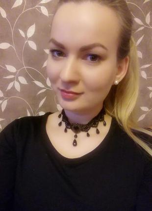 Чокер кружевной #ожерелье #колье как zara