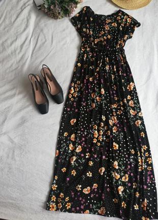 Сукня довга в квіти, dorothy perkins натуральна тканина, під пояс