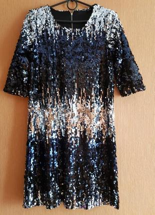 Нарядное платье пайетки р.44