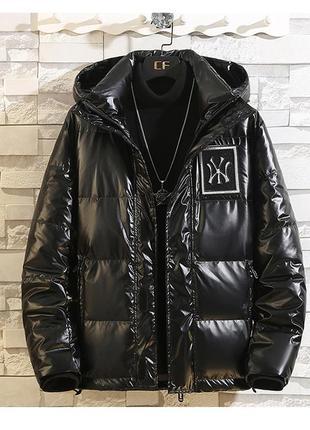 Мега стильный трендовый мужской подростковый пуховик зимняя куртка