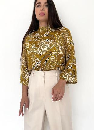 Блуза с укороченным рукавом hm