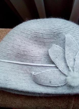 Супер тепла ангорова шапка