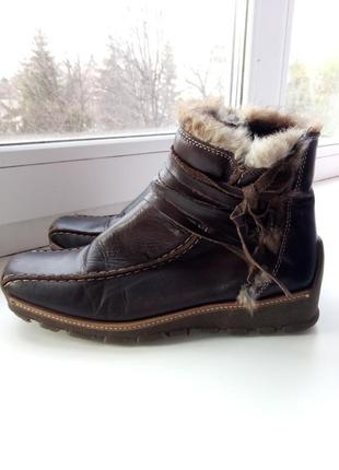 Шикарные, утепленные ботиночки про-во италия стелька 23 см-23,5 см!