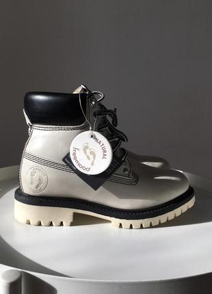 Кожаные ботинки ручной работы на шнуровке в стиле timberland
