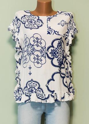 Шикарная блуза с рюшами вискоза