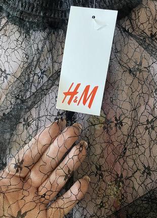 Прозрачна блузка-сетка чорна h&m