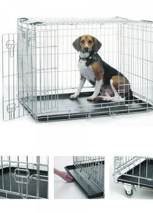 Клетка вольер для кота собаки щенка котенка 78х55х62см