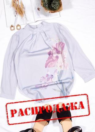 Элегантная блузка с цветочным принтом