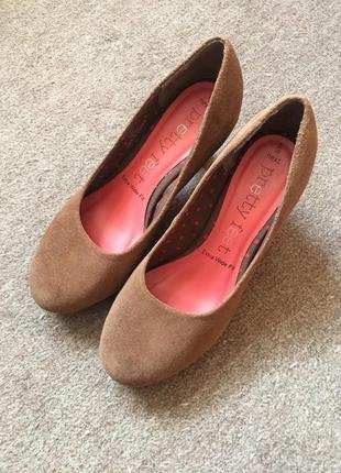 Замшевые туфли next wide feet на широкую ножку
