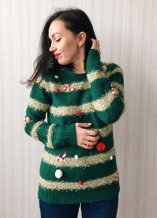 Уютный новогодний свитер
