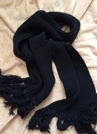 Тёплый вязанный шарф