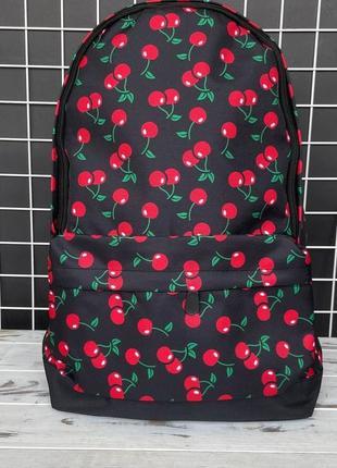 Рюкзак с принтом вишня, городской рюкзак
