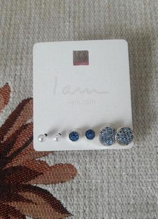 """Розпродаж: сережки: ювелірна біжутерія високої якості (британський бренд """"i am"""")"""