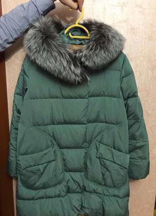Куртка пальто пуховик l