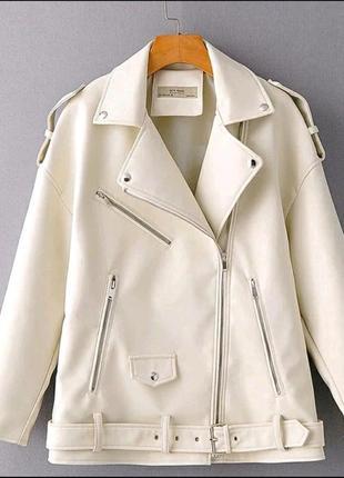 Косуха, кожанка, куртка экокожа оверсайз l последний размер , супер цена