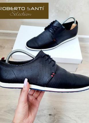 Roberto santi  туфли с натуральной кожи лето