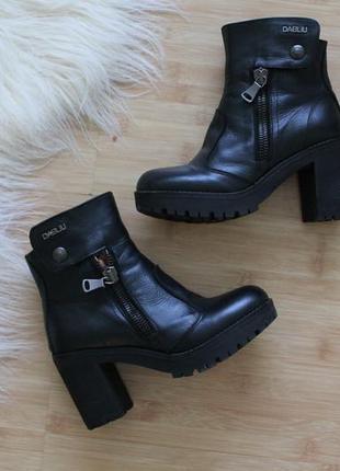 Ботинки dabliu ( кожа / броги / черевики)