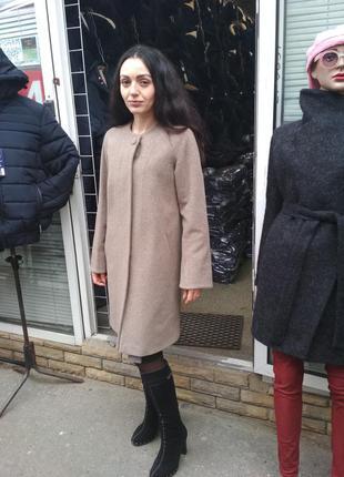 Демисезонное пальто без воротника grislav5