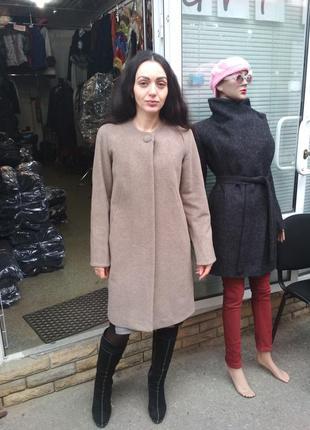 Демисезонное пальто без воротника grislav3