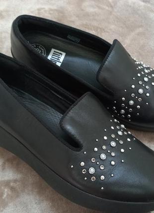 Туфли,мокасины кожаные жен.39р fitflop,clarks индонезии