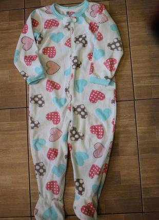Человечек - пижама флисовый 3-4 года.