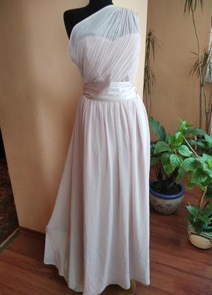 Платье пудрового цвета в пол dort perkins