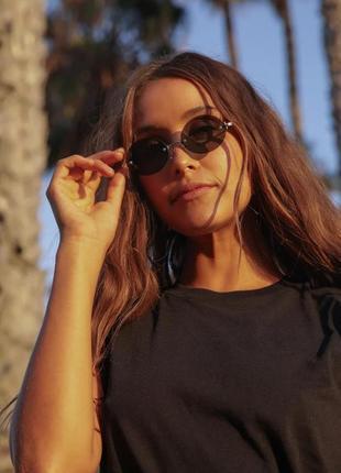 Солнцезащитные овальные очки без оправы  ralph lauren