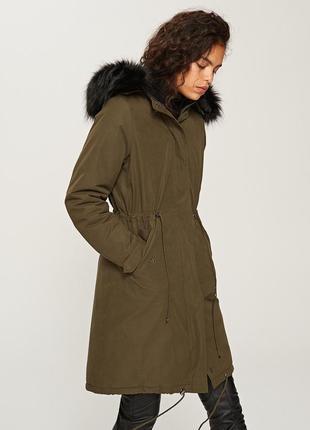 Скидка! xs-xl стильная синяя зимняя куртка парка теплая пальто с капюшоном длинная