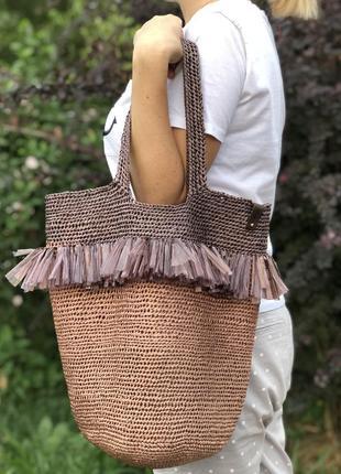 Пляжная сумка авоська шоппер