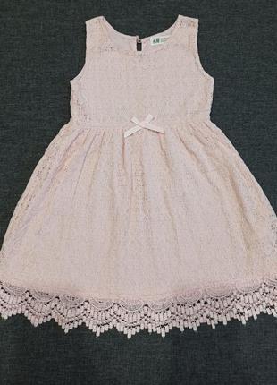 Ажурное платье 4-6 лет. вещи дочки