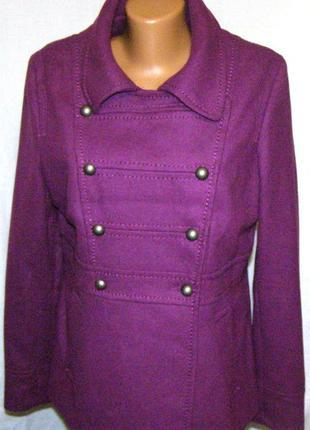 Шерстяное женское полу пальто h&m (48- 50 р)