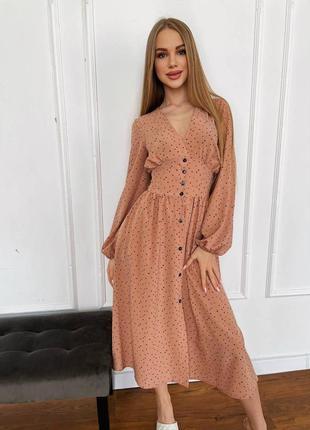 Платье со сборкой ззади