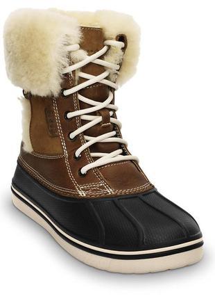 Сапоги crocs womens allcast luxe duck boot оригинал w6