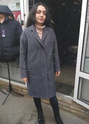 Демисезонное модное пальто
