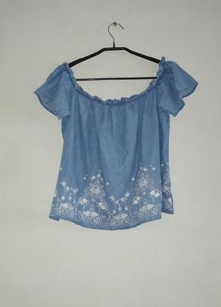 Блуза с вышивкой лёгкий лиоцел