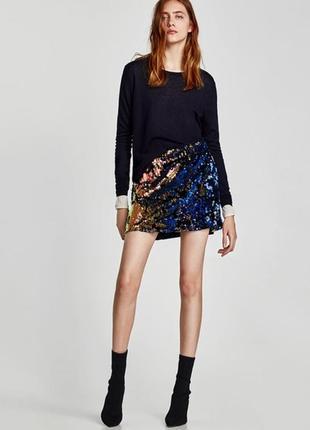 Оригинальная юбка с паетками