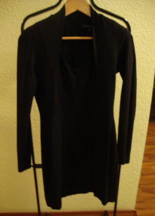 Чорное трикотажное платье  french connection