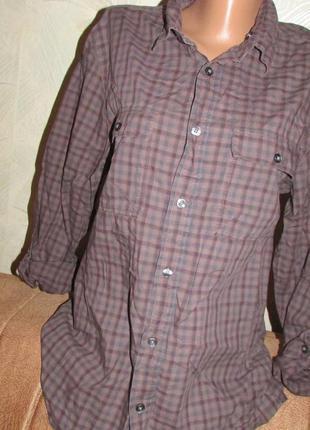 Крутая стильная рубашка в клетку р. 38