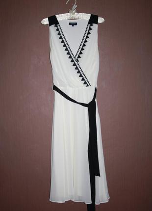 Милое коктейльное платье из шифона №468