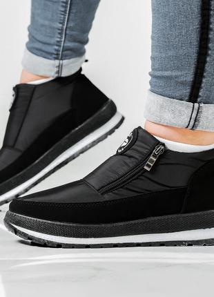 Женские зимние ботинки - кроссовки на платформе (бт-5ч-2)